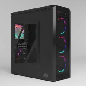 现代电脑主机3D模型【ID:245876751】