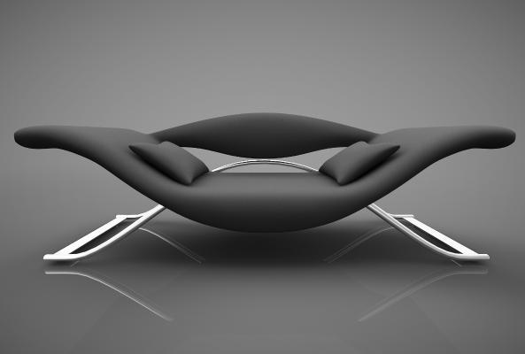 現代風格休閑沙發3D模型【ID:642551687】