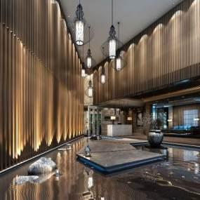 新中式大堂◆水景�|3D快三追号倍投计划表【ID:633511592】
