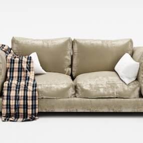 现代绒布沙发3D模型【ID:635669599】