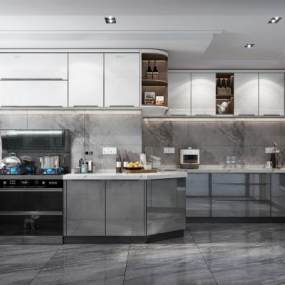 現代風格廚房3D模型【ID:552569366】