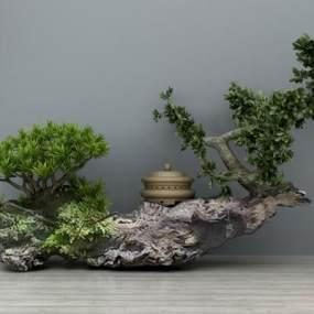 新中式景觀小品3D模型【ID:134447409】