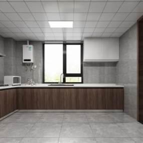 現代簡約廚房3D模型【ID:547248382】