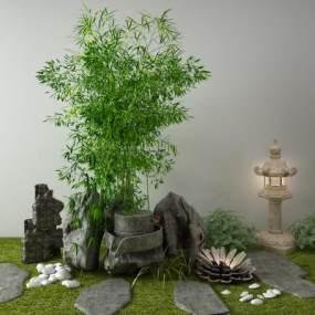 新中式景观小品3D模型【ID:149313426】