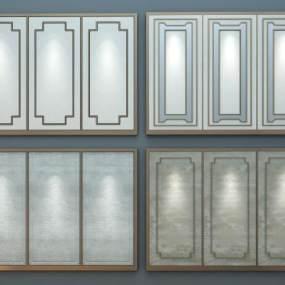 现代硬包软包背景墙组合3D模型【ID:230636728】