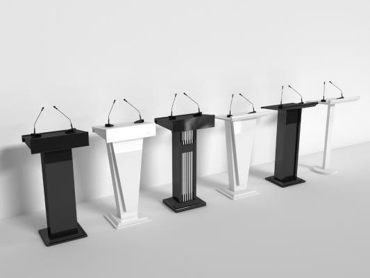 现代演讲台模型3D模型【ID:932192539】