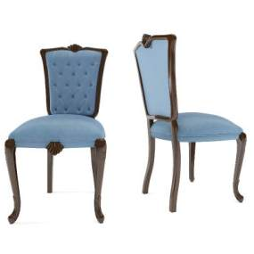 简欧餐椅3D模型【ID:745938109】