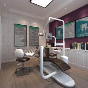 現代牙科診所3D模型【ID:943407735】