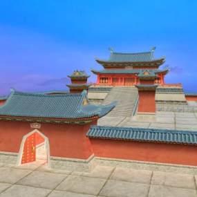 中国传统古建筑古建大殿3D模型【ID:132788901】