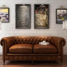 欧式沙发3D模型【ID:631450717】