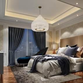 卧室3D模型【ID:533512239】