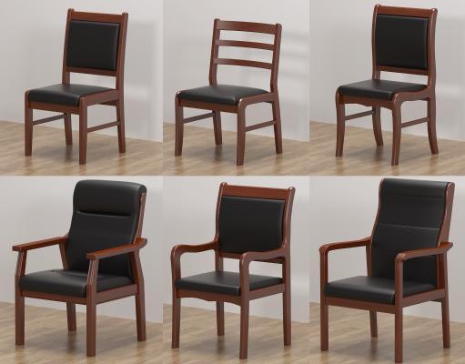 中式传统实木质办公椅 会议椅 培训员