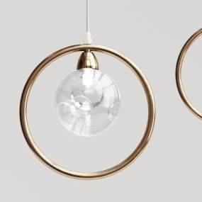 现代圆环玻璃球吊灯3D模型【ID:731974851】