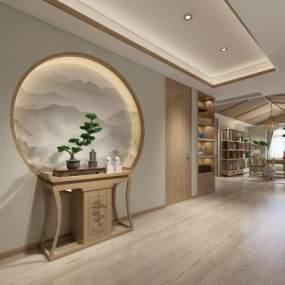新中式书房3D模型【ID:534709458】