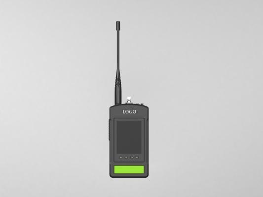 現代手持機通訊器對講機3D模型【ID:445382060】
