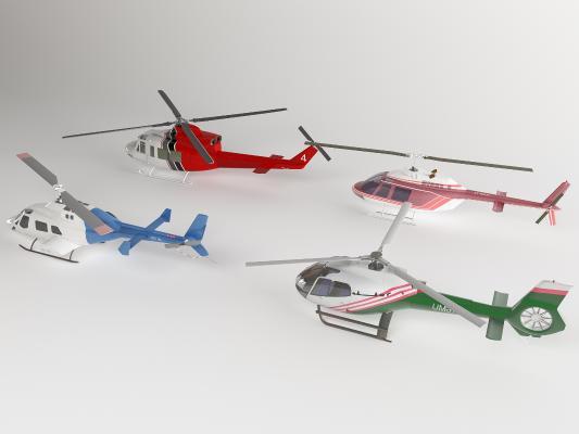 现代飞机3D模型【ID:452877977】