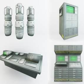 工业风电子设备3D模型【ID:435458396】