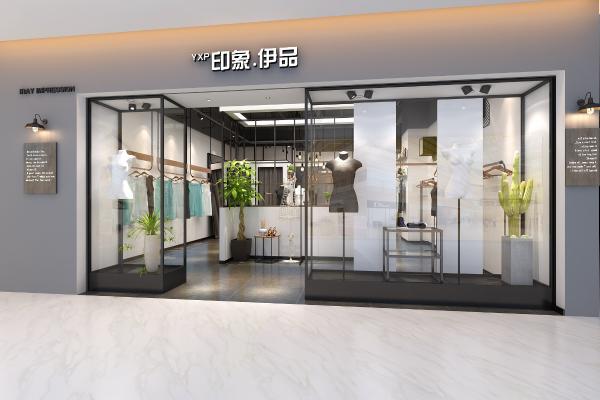 现代服装店铺3D模型【ID:146490057】