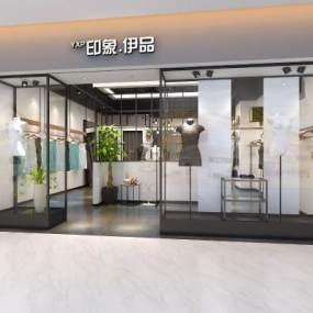 現代服裝店鋪3D模型【ID:146490057】