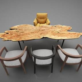 現代風格餐桌3D模型【ID:848215818】