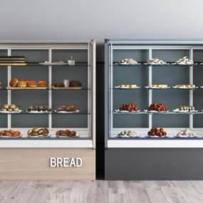 现代面包展柜组合3D模型【ID:153081832】