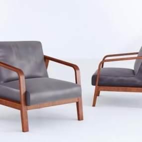 现代休闲椅3D模型【ID:734471066】