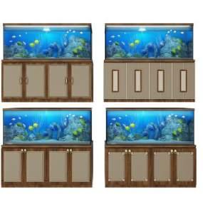 新中式鱼缸3D模型【ID:233018544】