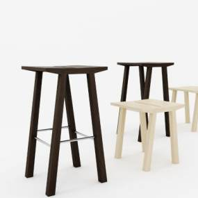 现代吧椅3D模型【ID:732360251】