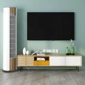 北欧电视柜3D模型【ID:943553997】