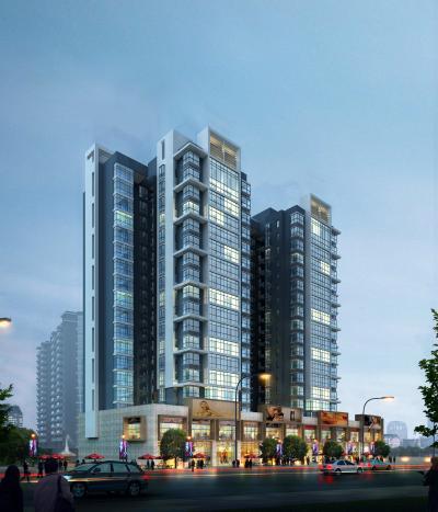 现代高层商业住宅楼3D模型【ID:150106711】