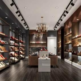 现代鞋店3D模型【ID:935413857】