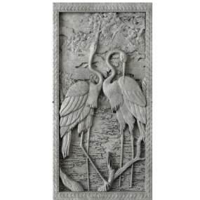 新中式丹顶鹤浮雕雕刻墙饰壁饰3D模型【ID:235830705】