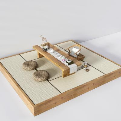 新中式榻榻米茶具3D模型【ID:830607919】