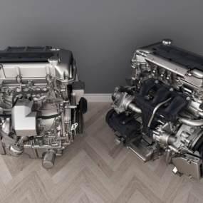 现代发动机3D模型【ID:431055393】