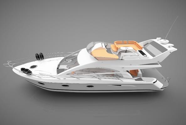 现代风格小船3D模型【ID:443141882】
