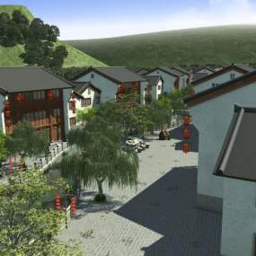 古街古镇中式建筑3D模型【ID:232836104】