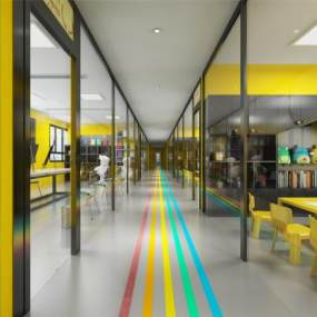 现代幼儿园培训机构3D模型【ID:133350245】