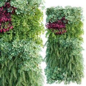 现代绿植墙3D模型【ID:253325729】