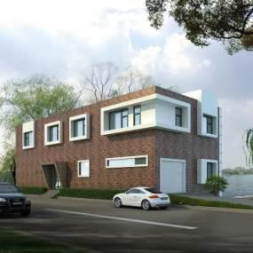 现代建筑外观3D模型【ID:231350411】
