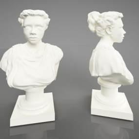 现代艺术雕塑3D模型【ID:334498188】