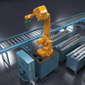 现代机械臂3D模型【ID:447080399】