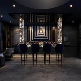 现代酒吧3D模型【ID:834716094】
