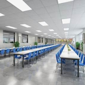 現代學校食堂3D模型【ID:644006233】