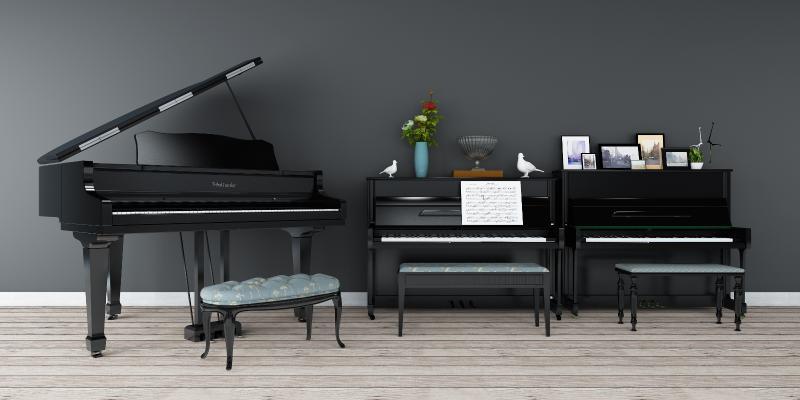 現代鋼琴3D模型【ID:331660998】