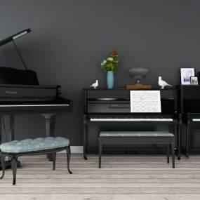 现代钢琴3D模型【ID:331660998】