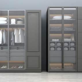 现代简约衣柜3D模型【ID:135754484】