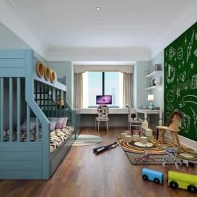 现代儿童房3D模型【ID:531760201】