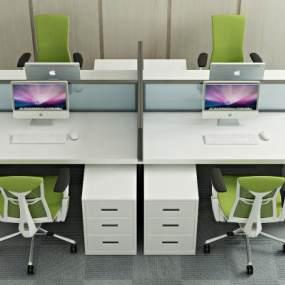 现代办公桌椅3D模型【ID:935513116】