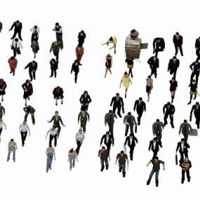 现代男女人物组合3D模型【ID:330931015】