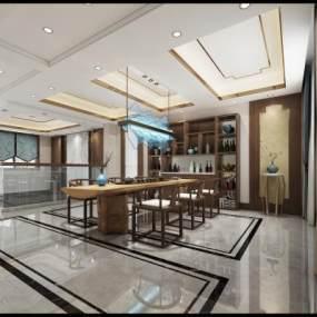 中式茶室3D模型【ID:632745110】